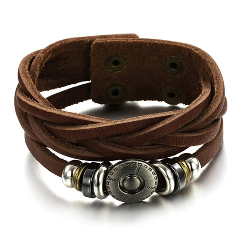 6bd07d09fc1 Top vendendo pulseiras de couro masculinos acessórios de moda por atacado  dos homens do estilo de rock pulseira mão jóias frete grátis OPH777 em  Chain ...