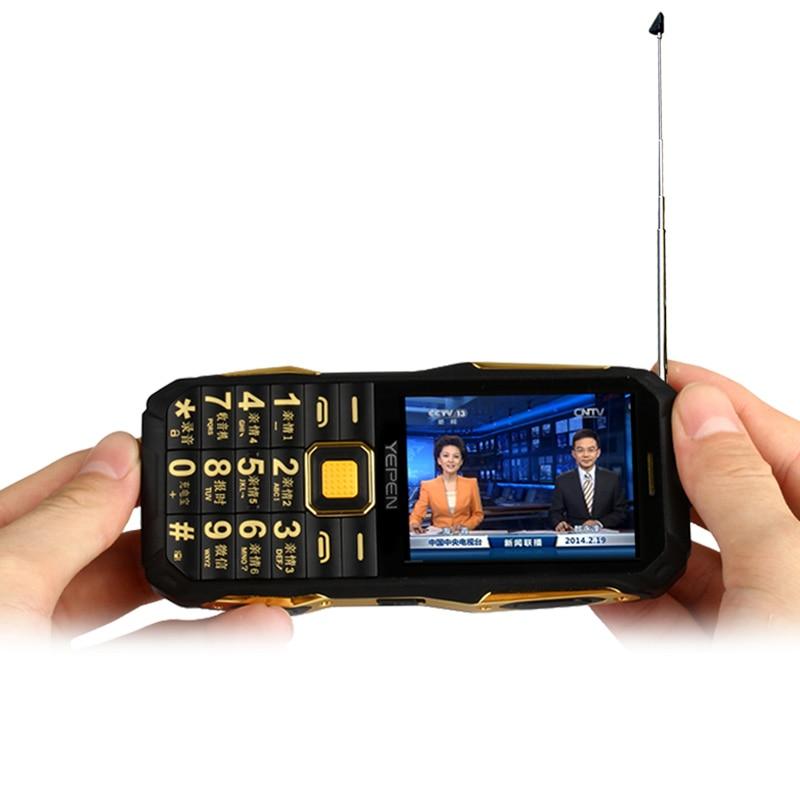 YEPEN Y698 zseblámpa vezeték nélküli FM rádió 2800mAh hosszú készenléti kettős SIM-kártya Mp3 Mp4 Power Bank analóg TV Rugged mobiltelefon P072