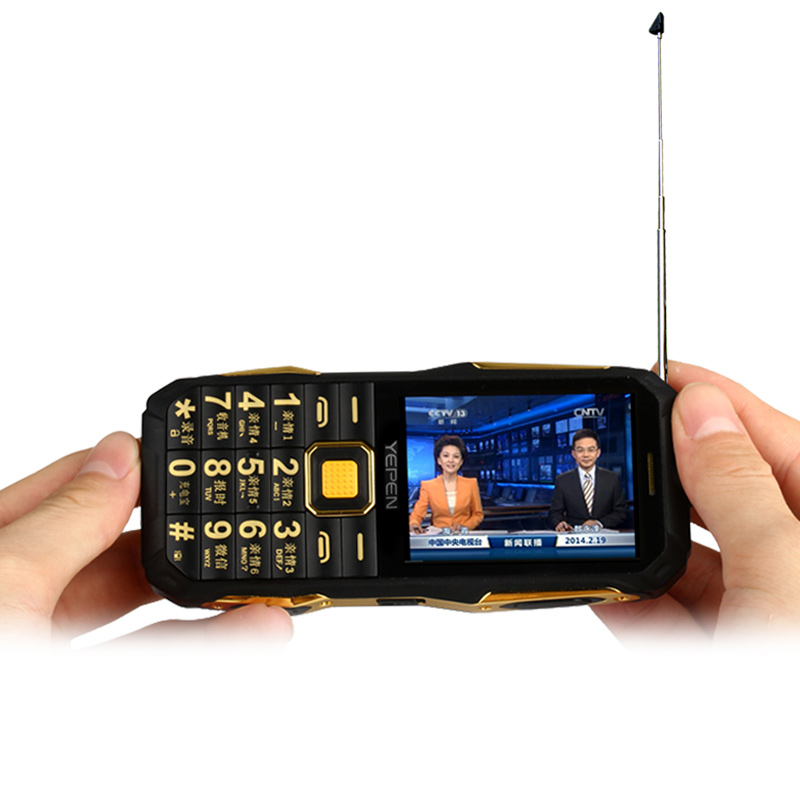 YEPEN Y698 Flashlight Wireless FM Radio 2800mAh Long Standby Dual SIM Card Mp3 Mp4 <font><b>Power</b></font> Bank Analog TV Rugged Mobile Phone P072