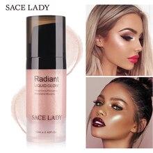 SACE LADY Сияющий макияж хайлайтер крем для лица 3 цвета профессиональный светящийся набор макияж 12 мл жидкий бронзатор косметика для контуринга