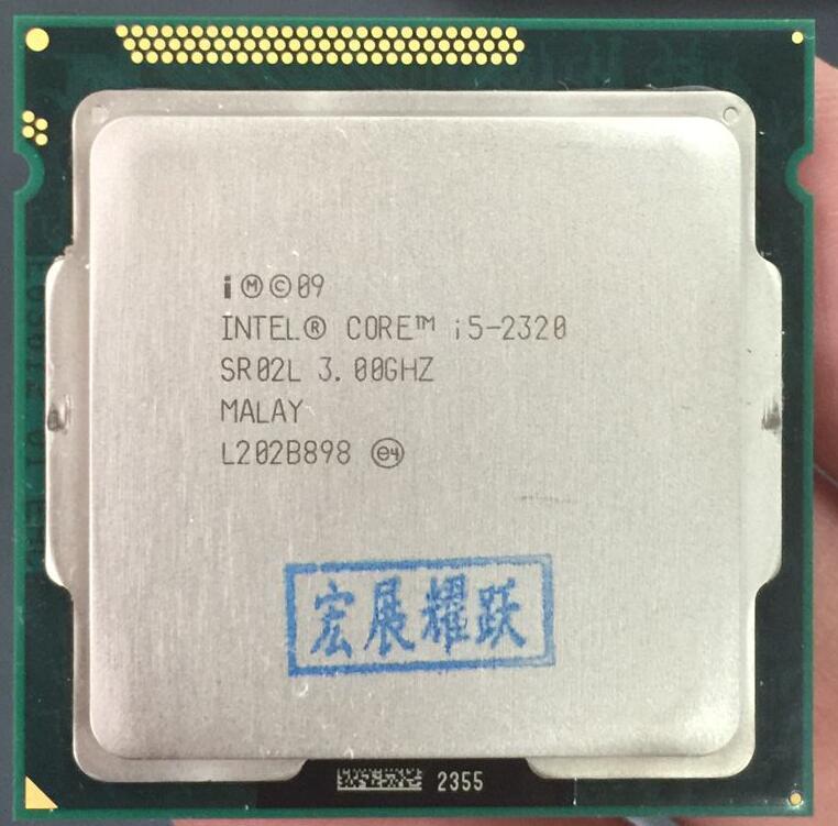 Processeur Intel Core i5-2320 i5 2320 (Cache 6 M, 3.0 GHz) processeur d'ordinateur de bureau LGA1155 PC