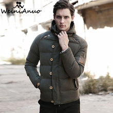 WEINIANUO 2017 New Men Winter Jacket Warm Male Coats Casual Fashion Men's Thick Parkas Jackets Male Outerwear Cotton Padded 231