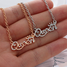 363cbdb83201 Estilo caliente de oro de la joyería de-de la Reina Color carta collar de  gargantilla de cristal Personaliy colgante de collar p.