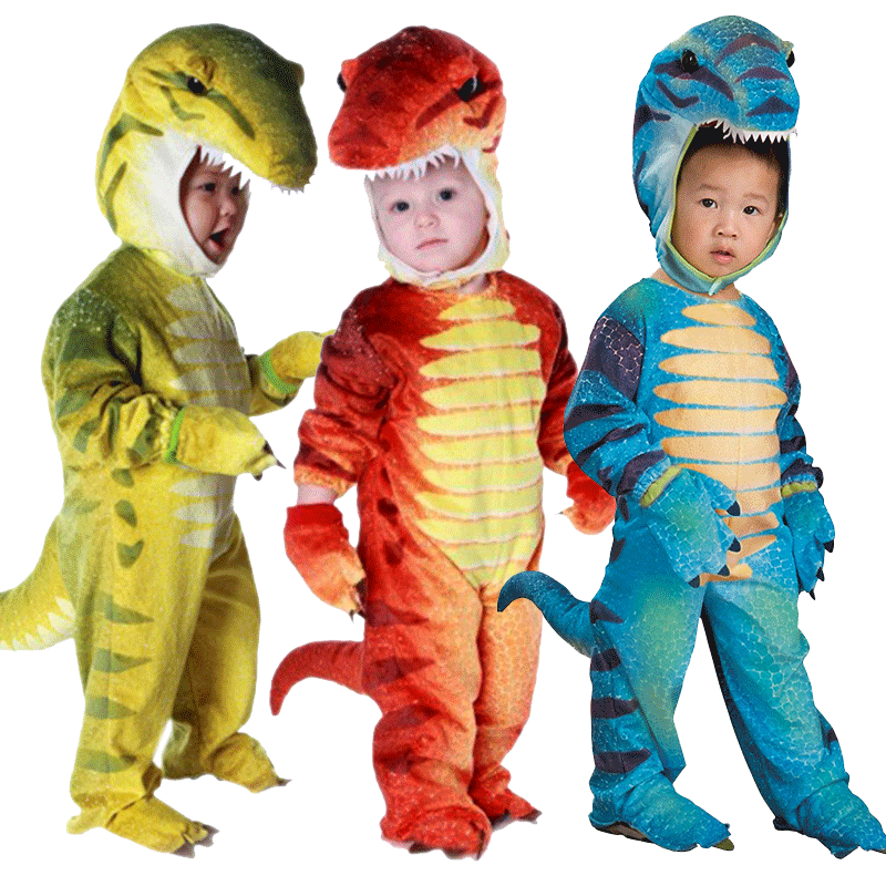 Cartoon Children Boys Dinosaur Costume Toddler Animal Cosplay Clothing Halloween Costumes For Kids baby halloween outfit dinosaur romper dinky dragon photo props halloween costume toddler hoodies clothing for babies
