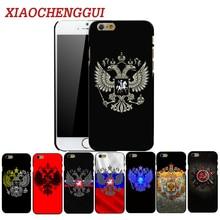 цена на XIAOCHENGGUI Russian Emblem Phone Hard Plastic Case Cover For iphone 4 4s 5s 5 SE 6 6s 8 6/7/8 plus X XS XR XS Max case