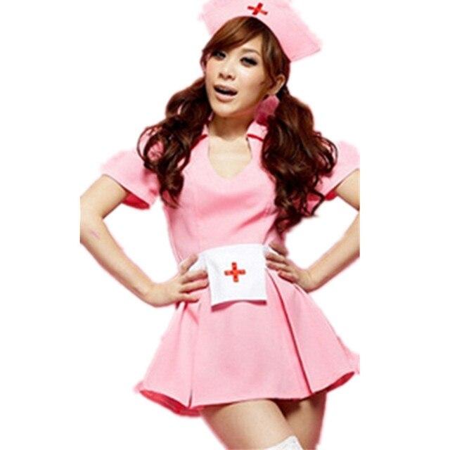ee9d8636383bf Lencería sexy enfermera desgaste enfermera Rosa ropa vestido Cosplay trajes  sexy Hot sexy ropa interior mujeres