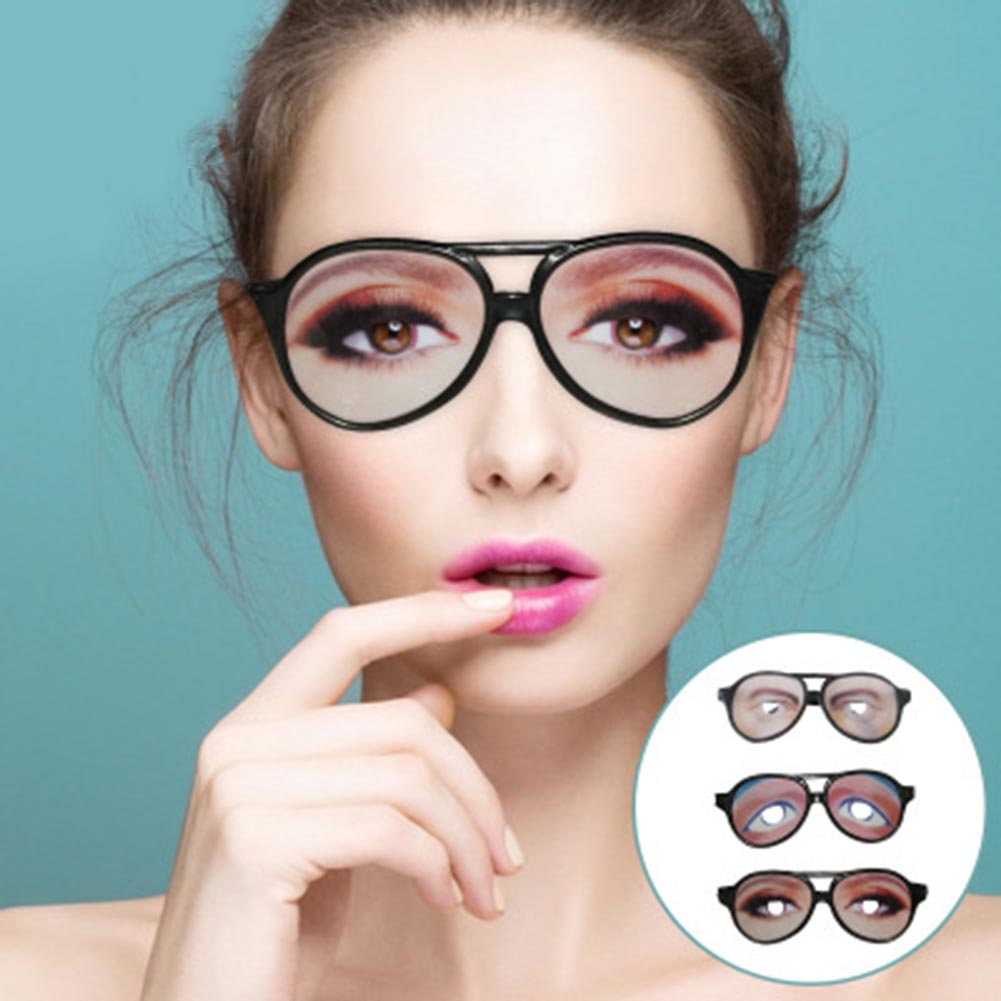 1 Pc Extremely Funny Glasses Frame Eyes Mischief Decoration Accessory Holiday Festival Halloween Decoration