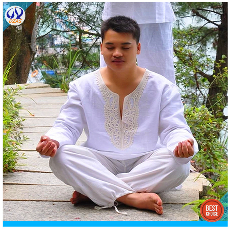 AliExpress Art Star Indian Style Mens Spring Summer Cotton Meditation Clothing Yoga Suits Clothes