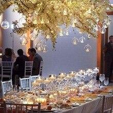 Бытовые 100 шт свечи 1 шт стеклянный круглый подсвечник пламя мигающий домашний свадебный день рождения украшение свечи поставки