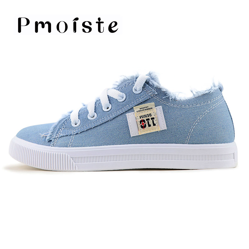 bc881b3f7b8 Women flats classic spring/autumn fashion denim women's shoes round toe  canvas shoes designer sneakers zapatillas mujer-in Women's Flats from Shoes