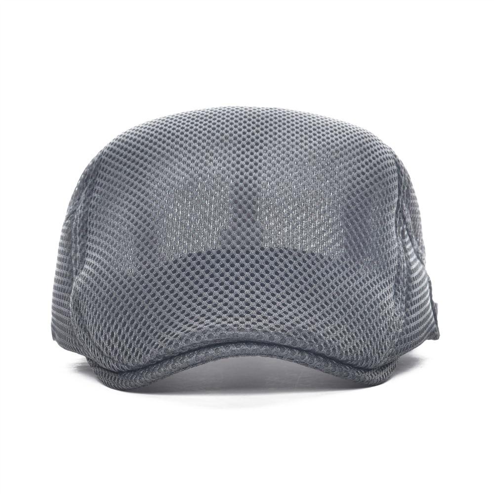 944bd9836e2 VOBOOM Gray Flat Cap Men Women Mesh Net Summer Newsboy Caps Soft Lightweight  Breathable Cabbie Gatsby Ivy Hat 124-in Newsboy Caps from Apparel  Accessories ...