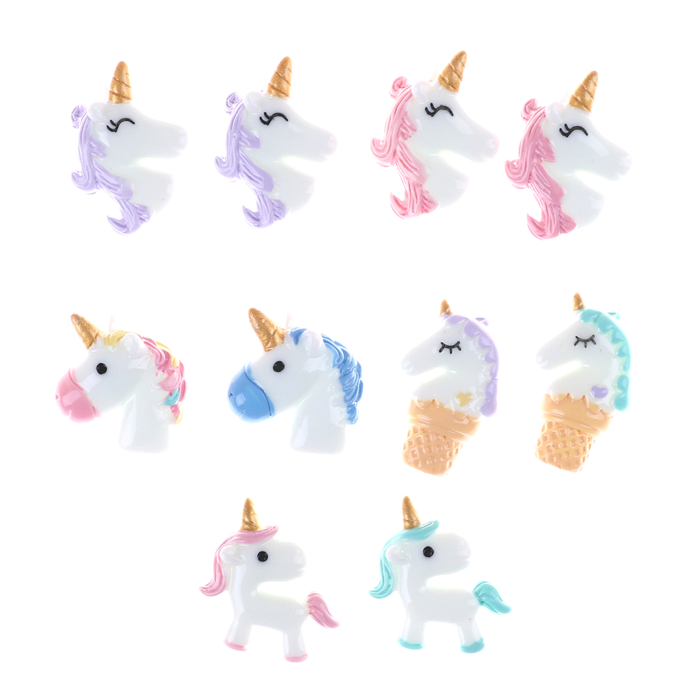 buy 2pcs lot mini cute flatback resin unicorn kawaii resin cabochons. Black Bedroom Furniture Sets. Home Design Ideas