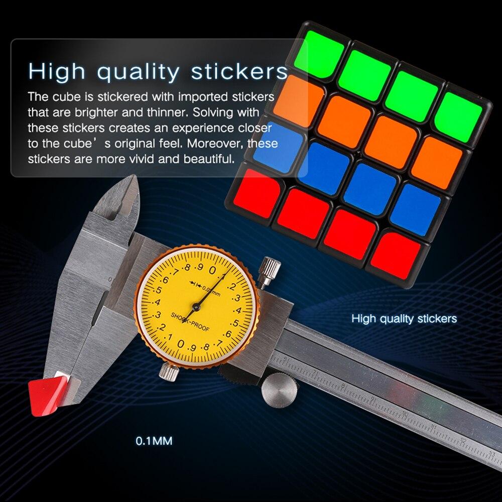 Moyu Aosu GTS2 M 4x4x4 SpeedCube magnétique 4 couches 6.2 cm Aosu GTS 2 M Cube magique professionnel jouets pour enfants WCA compétition - 6