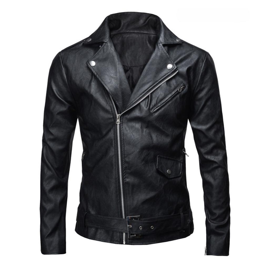 Leather Jacket 2016 PU Men Basic Coat Wool Leather Men s Jackets Slim Leather Motorcycle Jackets