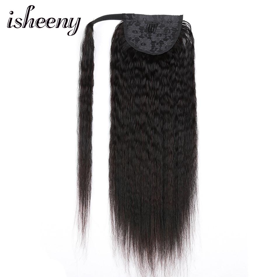 Ponytails Considerate Isheeny 18 140g Kinky Straight Brazilian Remy Human Hair Drawstring Clip In Ponytail Hair Extensions Natural Black Ponytail New Demand Exceeding Supply Hair Extensions & Wigs
