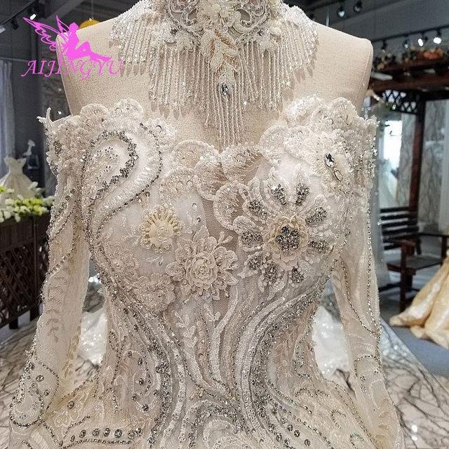 AIJINGYU düğün elbisesi rusya federasyonu nişan abiye seksi kadınlar için en iyi tasarımcılar kraliçe kıyafeti artı boyutu gelin elbiseleri 2021