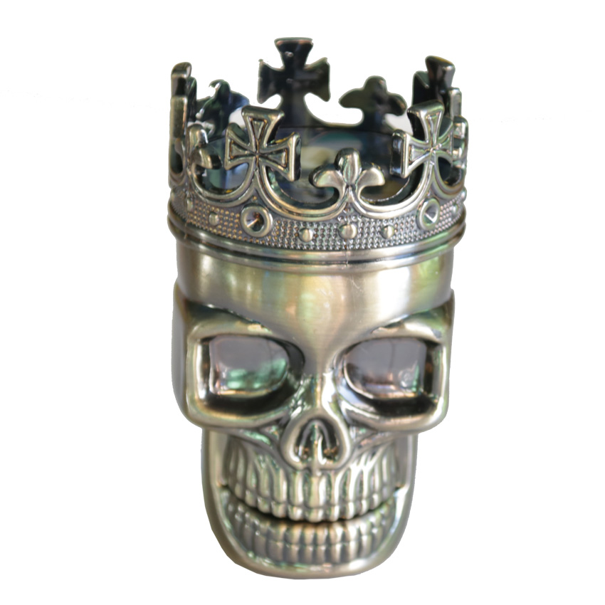 1PC Creative King Skull Herb Grinder 3 Parts Cigarette Rolling Tool - Household Merchandises - Photo 1