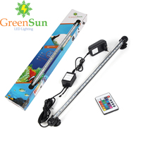 EU US UK AU Plug RGB Remote Aquarium Light Bar Fish Tank Waterproof 5050 SMD LED