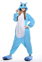 Onesies for adults Women Sleep Pajamas blue hippo Animal Pajamas One Piece Pyjama Femme Home Clothing