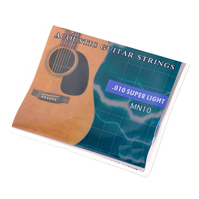1Set 6Strings.010-.047 Acoustic Guitar Strings Super Light for Guitar String Replacement