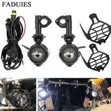 Универсальные мотоциклетные светодиодные фары FADUIES 2 шт./компл., Автомобильные противотуманные фары, сборные фары дальнего света для BMW R1200GS/ADV/F800GS