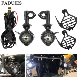 FADUIES 2Pcs/set Universal Motorcycle LED Auxiliary Light Car Fog Light Assemblie Driving Lamp For BMW R1200GS/ADV/F800GS(China)