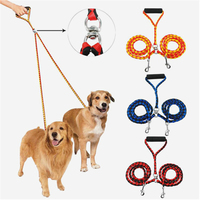 140cm Double Dog Leashes Nylon Dual Dog Leash Two Way Dog Walking Lead Leash Two In