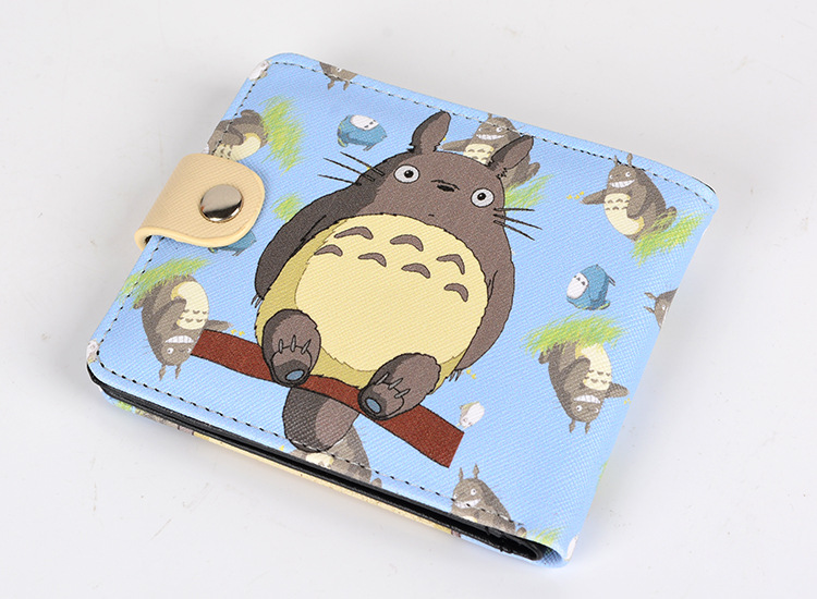 Tonari no totoro high quality short wallet cute lovely wallet totoro wallets colorful printing p075 pu short wallet purse with colorful printing of japanese anime tonari no totoro my neighbor totoro