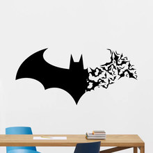 DIY waterproof wallpaper Sticker Stickers Bat series Home Decoration Living Room Children's Room Self-adhesive Art Frescoes(China)