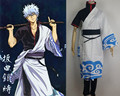 GINTAMA cosplay costumes role playing unisex Sakata Gintoki clothes top pants trench polyester costumes uniform cos props suit