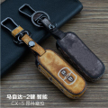 Leather Car Keychain Key Fob Case Cover for Mazda M2 M3 M5 6 MX5 CX-5 CX-7 CX-9 Atenza Axela Key Rings Holder bag Accessories