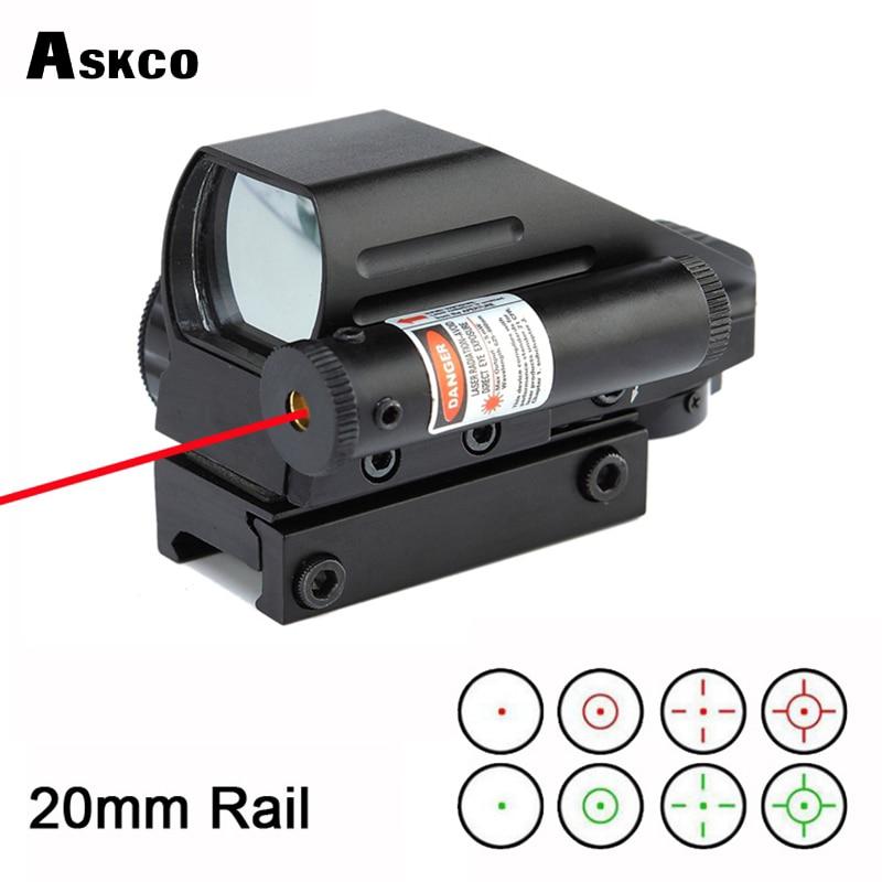 Gratis Verzending 1x22x33mm rood en groen dot reflex sight scope ingebouwde rode laser pak 22mm gids voor airgun richtkijker # HD103B