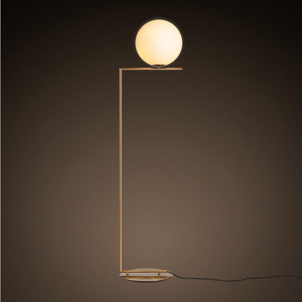 Italian Designer Lamps Floor Flos Floor Lamp Gold Holder Glass Shade Floor  Light For Living Room