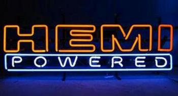Custom HEMI POWERED Glass Neon Light Sign Beer Bar