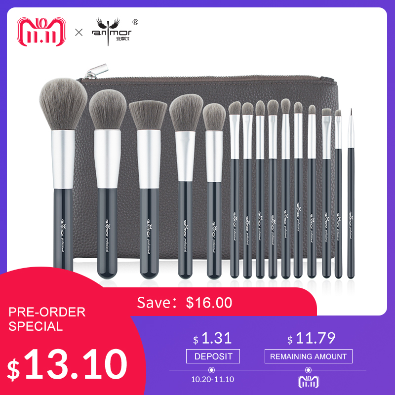 Professional Makeup Brushes 15PCS Make Up Brush Set Soft Synthetic Makeup Kit with Foundation Powder Eyebrow Eyeliner Brushes 7 pcs make up brushes for make up professional eye shadow foundation eyebrow lip makeup brush suit make up tools