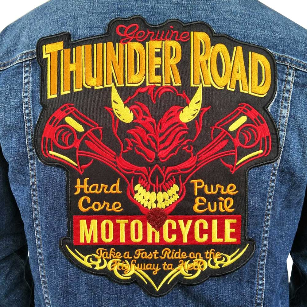 ThunderRoadEmbroideredBikerPatches
