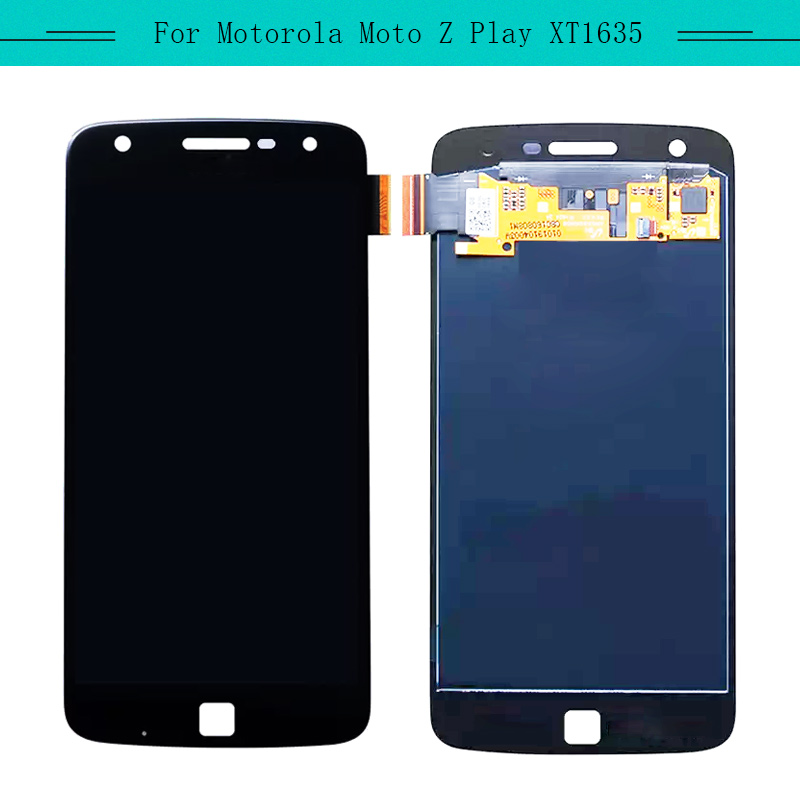 Tested 1pcs Complete LCD For Motorola Moto Z play <font><b>XT1635</b></font>-03 full LCD Display with touch Screen Assembly Replacement image