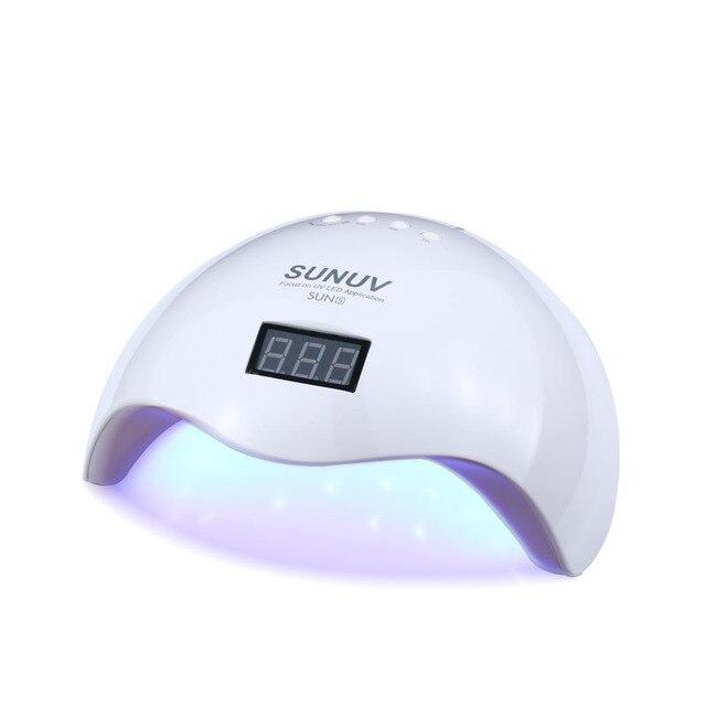 Sun5 48w White Light Professional Led Uv Lamp For Gel Machine Infrared Sensor Timer Set All