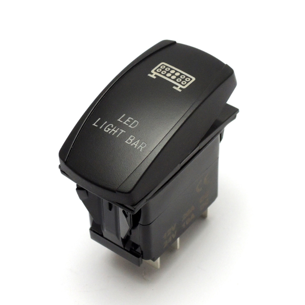 For POLARIS RZR900 RZR1000 800 RZR4 Ranger 2015 Light Bar Laser Rear Lights UTV Rocker Switch Push Button