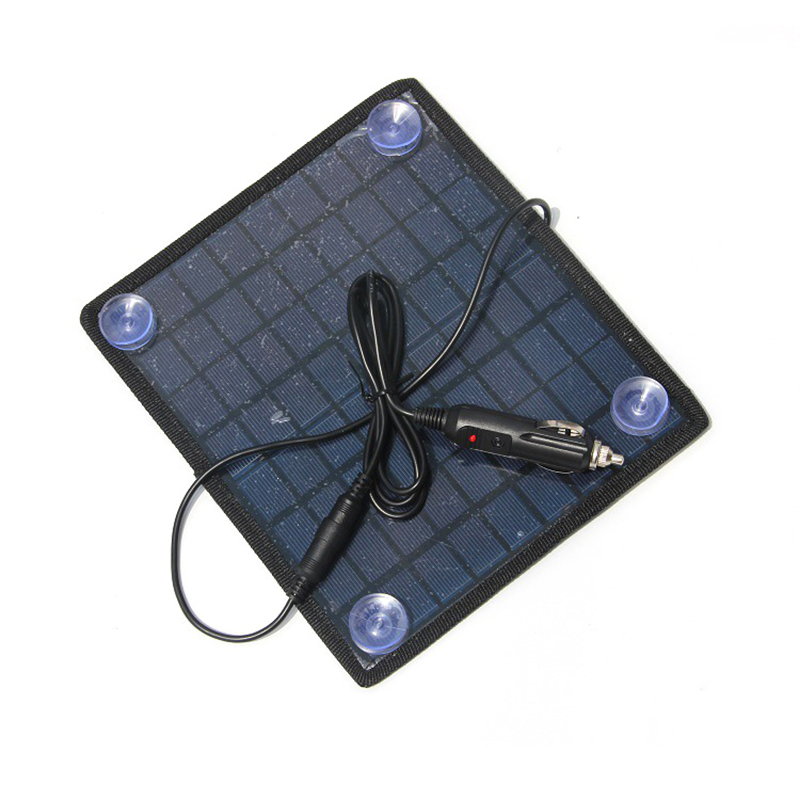 GOLDFOX Portable 5.5W 18V Solar Panels polycrystalline silicon Solar Panel Charger for 12V Car Battery Universal Rechargeable