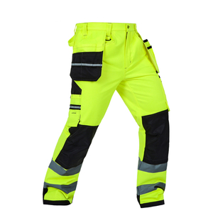 Image 4 - Bauskydd reflective workwear jacket work trousers with knee pads free shipping