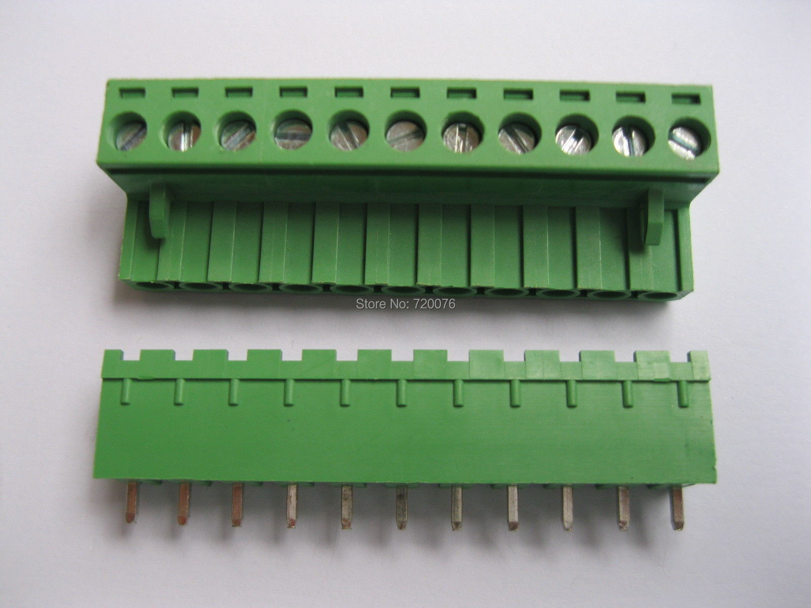 30 pcs Green 11 pin 5.08mm Screw Terminal Block Connector Pluggable Type 5 pcs 400v 20a 7 position screw barrier terminal block bar connector replacement