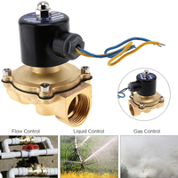 1 DC 12V Electric Solenoid Valve Pneumatic Valve Brass Body for Water / Oil / Gas