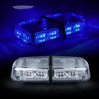CYAN SOIL BAY Emergency Magnetic 36 LED Roof Top Flash Strobe Light BLUE Lights Flashing Lamp 36LED 12V