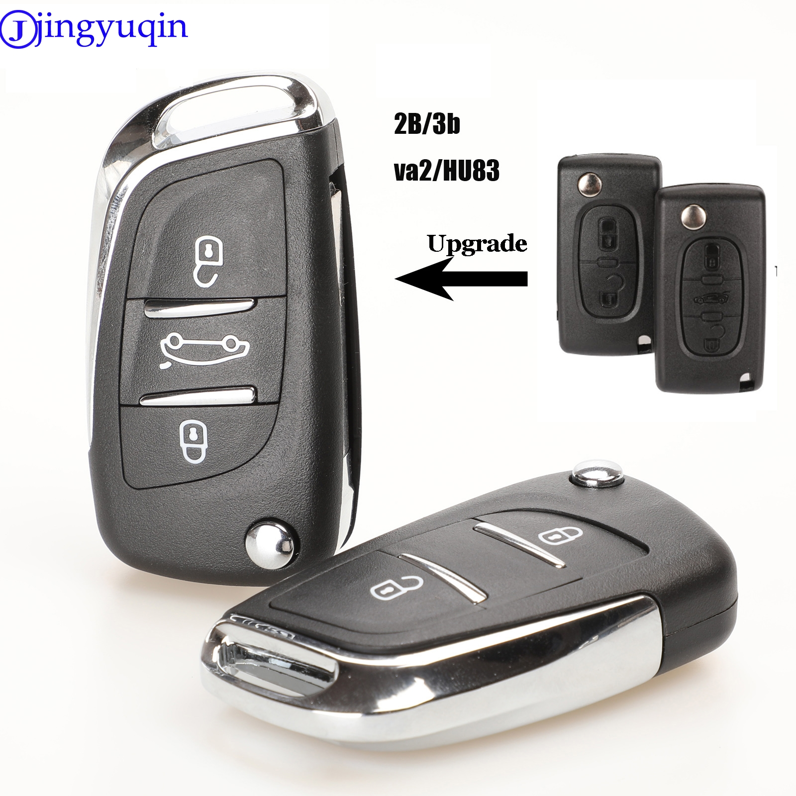 jingyuqin CE0536 Modified Flip Remote <font><b>Key</b></font> Shell For <font><b>Peugeot</b></font> 307 408 <font><b>308</b></font> for Citroen C-Triomphe C-Quatre C3 C4L C5 image