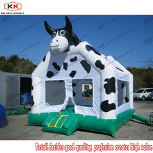 KK products durable PVC good guality milch cow inflatable bounce house for kids