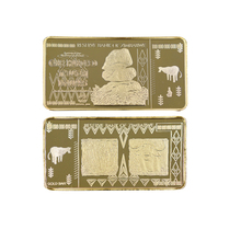 Holiday Gifts One Hundred Trillion Dollar Zimbabwe Gold Bar Collectible 24k Plated Metal Crafts for Souvenir