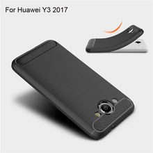 TOHONCASE For Huawei Y3 2017 Case Cover Fitted Soft TPU Cases Back Phone