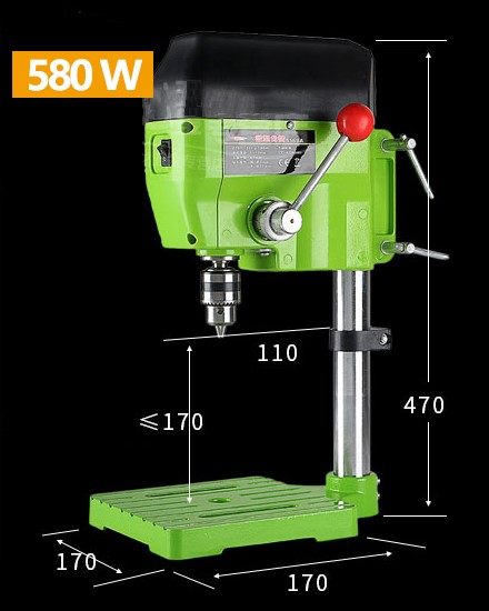 Milling Drill Press Bench 580W Stroke 60mm Clamping Range 1.5-13mm 4000rpm High Speed DIY Drilling Mill Machine цена и фото