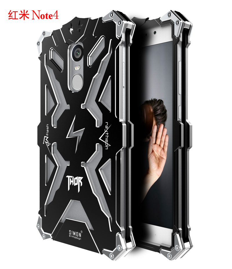 Цена за Саймон Дизайн ТОР ЖЕЛЕЗНЫЙ ЧЕЛОВЕК Металлический Корпус для Xiaomi Redmi Note 4 Примечание Крышка Алюминиевая Броня Противоударный Защитный Shell Coque